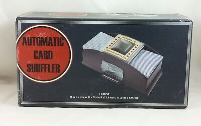 Automatic Card Shuffler Shuffler Shuffles 1or 2 Decks of card NEW