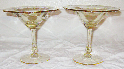 1930 Heisey Glass Empress Sahara Yellow 2 Footed Comport Candy