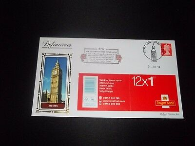 2014 1St Class Stamp Book  Benham (D720) Fdc - Royal Mail, London