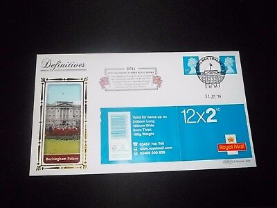 2014 2Nd Class Stamp Book  Benham  (D721) Fdc -  Royal Mail,  London