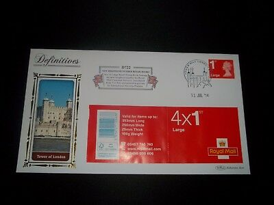 2014 1St Class Stamp Book  Benham (D722) Fdc - Tower Hill London