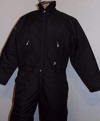 Men's Carhartt Insulated Coveralls Yukon Extreme Cold Weather 40T  Black NWT