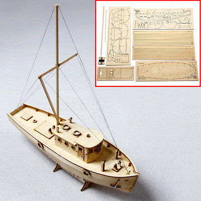 1/50 DIY Sailing Scale Boat Ship Assembly Model Wooden Kits Decoration Toy Gift