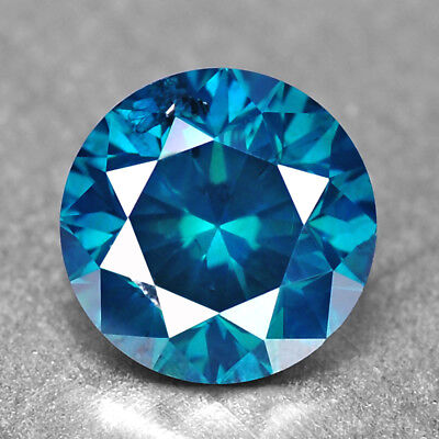 Blue Green Diamond 1.03 cts Round Diamond Natural Diamond Natural F729