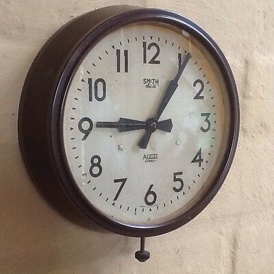 Vintage Bakelite 40's *SMITH SECTRIC* ELECTRIC WALL CLOCK Australia England VGC
