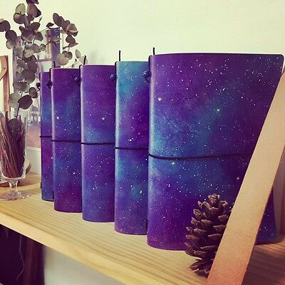 Universe Handmade Leather Midori Style Travel's Notebook, Refillable Notebook A5
