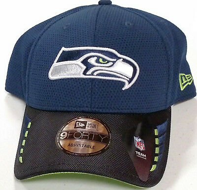 6efaac946 Seattle Seahawks New Era NFL 9Forty Adjustable Ball Cap Navy Black Lime