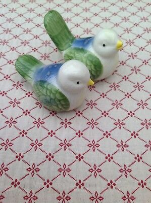 Vintage British 1950s Pair Of Bids Salt & Pepper Pots
