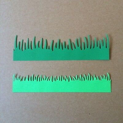 scrapbooking die cuts, grass x 8 pieces