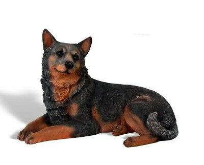 Blue Heeler Life Size Resin Dog Animal Theme Decor Display Prop
