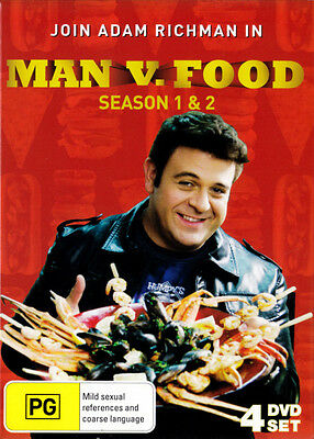 Man vs Food: Season 1 and 2  - DVD - NEW Region Free