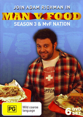 Man v. Food: Season 3 and Man v. Food Nation  - DVD - NEW Region Free
