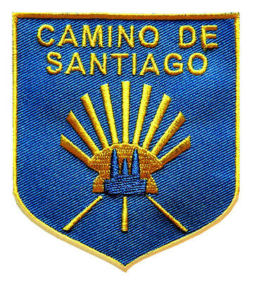 PARCHE bordado en tela CAMINO DE SANTIAGO, EMBROIDERED PATCH