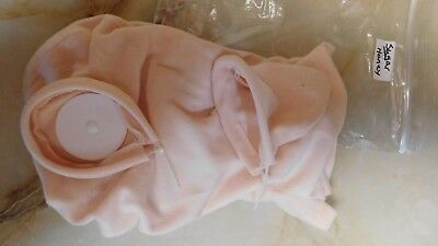 "18"" doe suede cloth body for full legs & 3/4 arms for reborn baby doll kits"