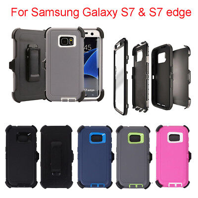 Defender Case fo Galaxy S7&S7 edge With Screen Protector(Belt Clip fit Otterbox)