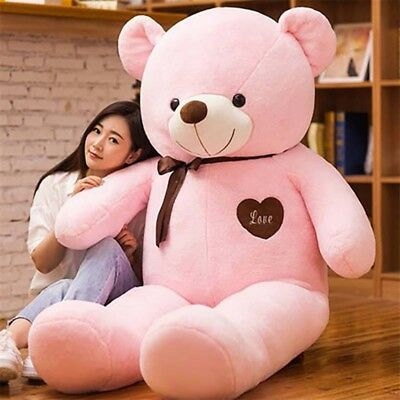 1.6M Cuddly Teddy Bear Giant Huge Stuffed Plush Animal Doll  Pink Christmas Gift