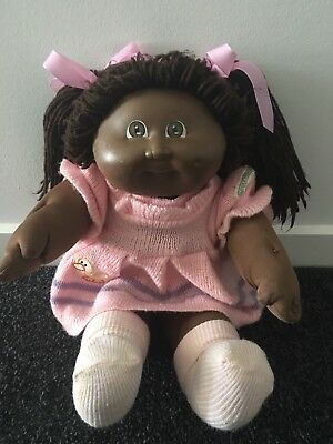 ~ Cabbage Patch Kid Doll AA Brown Girl-DRESSED~
