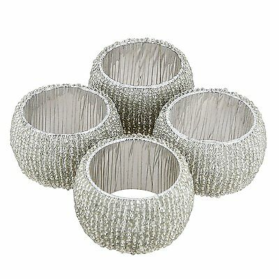Artist Haat Table Decoration Glass Napkin Rings Set of 4 Skilled Artians