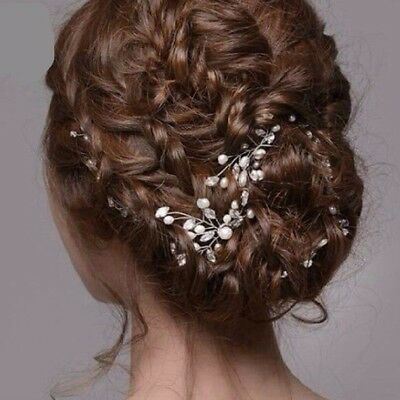 2pcs stunning crystal pearl bridal hair pins clips hairpins accessories wedding