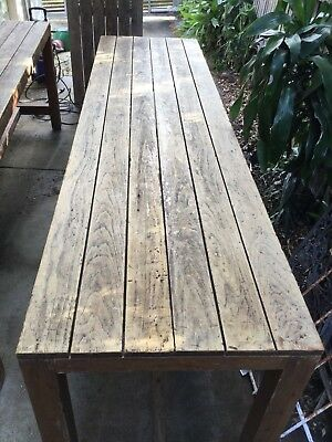 Table timber rustic 1m high, 3m long 800 wide. Bar/breakfast Pub/shop #1 of 3