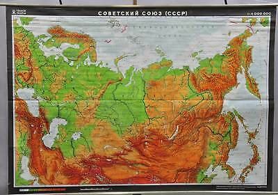 vintage poster rollable wall chart Soviet Union Russian language