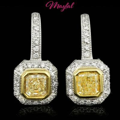 $23166 Certified Luxury Fine Jewelry 18K Multi-Tone Gold Diamond Earrings