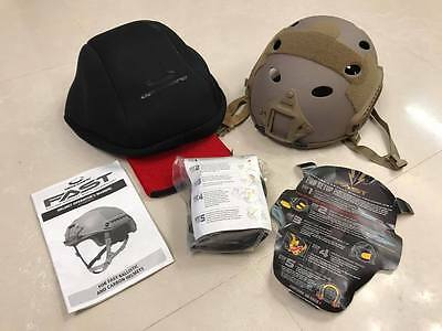 Ops Core FAST Carbon Helmet Tan X/XL BUMP XP HIGH CUT MARITIME DEVGRU AOR1 AOR2
