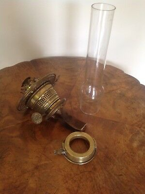 Antique Kero Lamp Burner and Chimney