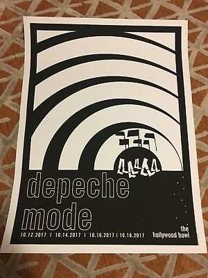 Depeche Mode Limited Edition Hollywood Bowl Screen Printed Poster