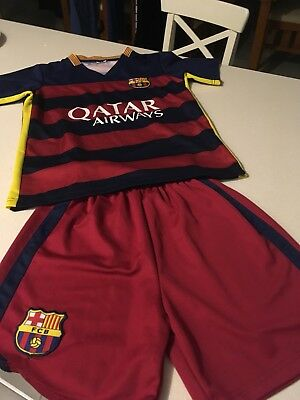 FC Barcelona Messi Kids Jersey and Shorts Size 10