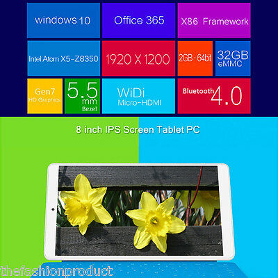 Teclast X80 Pro 8'' Tablet PC Windows 10+Android 5.1 Quad-Core 2GB/32GB Tablette