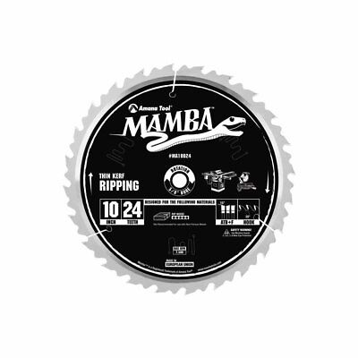 Amana Tool Mamba Series MA10024 Thin Kerf Ripping 10-Inch x 24 Tooth x ATB+F Gri