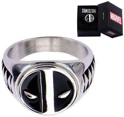 Deadpool Ring Logo Silver Size 10  - BRAND NEW