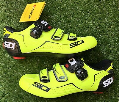 SIDI scarpe bici ciclismo gialle fluo yellow strada corsa road bike shoes BLACK