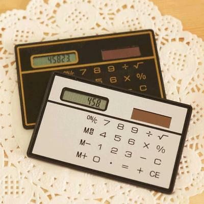 Slim Credit Card Cheap Solar Power Pocket Calculator Easy To Carry Mode