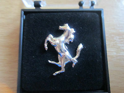 Prancing Horse Lapel Pin / Chromed Plated /25mm/Good Quality/ Boxed L028B