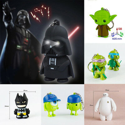 LED Star Wars Darth Vader Licht Taschenlampe keychain Schlüsselring Batman