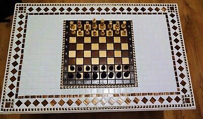 Mosiac Chess Table Great Christmas gift for the chess enthusiast