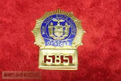 Historisches Peace Officer New York Courts Badge