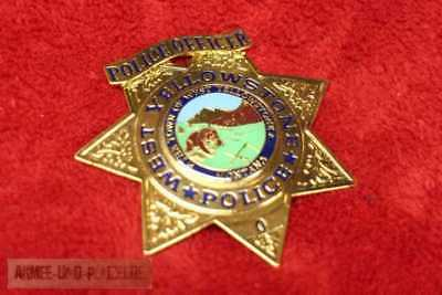 Historisches Yellowstone Police Officer US Metall Badge