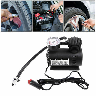 300PSI 12V Portable Mini Air Compressor Auto Car Electric Tire Air Inflator Pump