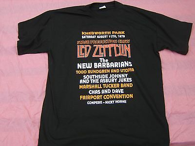 Led Zeppelin Knebworth production crew  T shirt