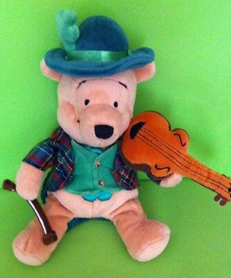 Winnie The Pooh Irish Fiddler Collectible Beanie By Disney Store