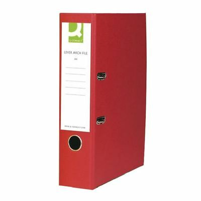 Q-Connect Red A4 Paperbacked Lever Arch File (Pack of 10) KF20041 [KF20041]