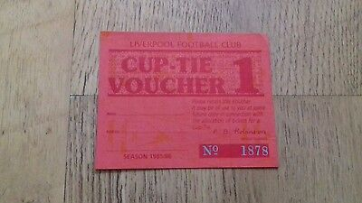 Liverpool fc ticket stub 348c