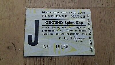 92) Liverpool fc ticket stub Spion kop