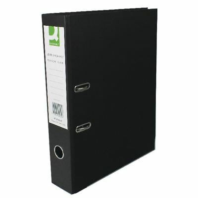 Q-Connect Paper Over Board Black Lever Arch Foolscap File (Pack of 10) [KF20029]