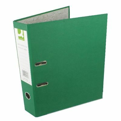 Q-Connect Green Foolscap Paperbacked Lever Arch File (Pack of 10) [KF20032]