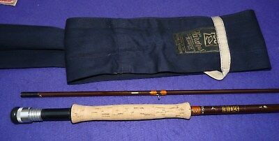 Hardy Fibalite 9' trout fly rod in super condition with makers bag line rate 7