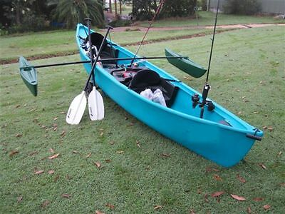 Kingfisher Fishing  Canoe -2 Seater With outrigger stabilisers